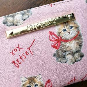 Betsey Johnson Pink Kitten Wallet